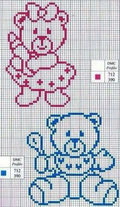 Punto De Cruz World crochet: For children 1 Cross Stitch For Kids, Cross Stitch Baby, Cross Stitch Animals, Cross Stitch Charts, Cross Stitch Designs, Cross Stitch Patterns, Cross Stitching, Cross Stitch Embroidery, Beading Patterns