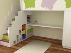 Butterfly themed quality high sleeper bed with storage. Hand crafted Bespoke Design Interiors - info@bdikent.co.uk