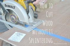 Best Way to Cut Wood Without it Splintering #buildingtips #wood