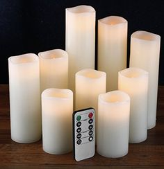 "Flameless Candles, Battery Operated Candles Set 4"" 5"" 6"" ... https://smile.amazon.com/dp/B01M6Z9HTU/ref=cm_sw_r_pi_dp_x_FsBlzb7KKDXQF"