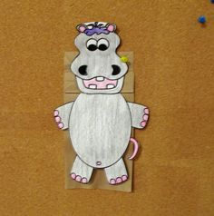 Free preschool craft from www.preschoolforayear.com and their Online Preschool Program. Letter Hh-Hippo