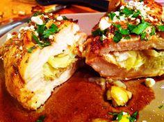 Artichoke and Feta Stuffed Chicken