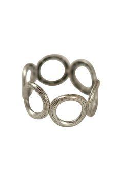 Burnished Silver Circle Bracelet