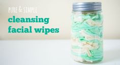 Make your own anti-aging and acne fighting facial wipes for cheap! Easy and saves a ton of money. - I like to keep cleansing wipes in my car during the summer. Anti Aging, Diy Beauté, Homemade Beauty Products, Diy Products, Natural Products, Thing 1, Beauty Recipe, Do It Yourself Home, Young Living Essential Oils