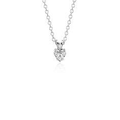 Blue Nile Love Knot Diamond Necklace in 14k White Gold (1/4 ct. tw.) eDlDVwFdiJ