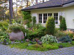 Front yard Corner lot landscaping idea.