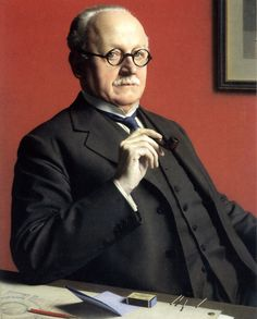 Edwin Lutyens by Meredith Frampton R.A. Art Workers' Guild.