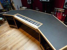 Trendy Home Studio Music Design Desks Studio Desk Music, Recording Studio Furniture, Home Studio Desk, Studio Setup, Studio Ideas, Music Furniture, Music Desk, Studio Design, Furniture Ideas