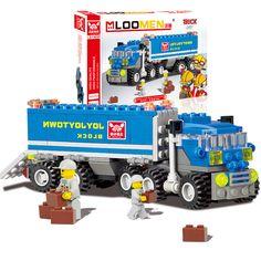 163 sztuk/zestaw diy transport ciężarówka wywrotka modelu zestaw building blocks zabawki montażowe marki dzieci zabawki edukacyjne prezent brinquedos