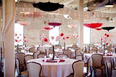 #Wedding #umbrella reception - get inspired at diyweddingsmag.com