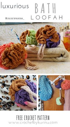 Luxurious Bath Loofah – Free Crochet Pattern – DIY Home Decor Yarn Projects, Crochet Projects, Free Crochet, Knit Crochet, Bazaar Ideas, Crochet Home Decor, Crochet Patterns, Crochet Ideas, Yarn Needle