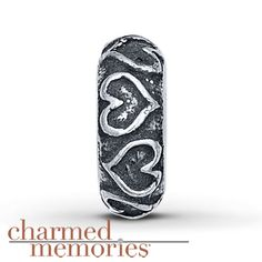Charmed Memories® Heart Spacer Charm Sterling Silver