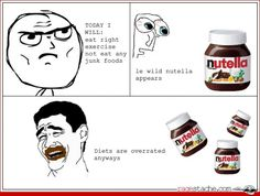 Love nutella hahaha this is why I don't buy it.