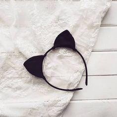 ariana grande cat ears headband