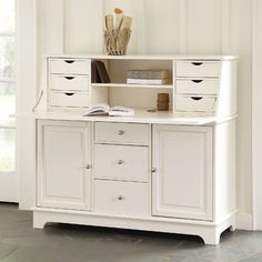 "Sullivan Secretary Desk - Ana White made a plan for this called ""Grant"" desk base - save $500 and make your own!"