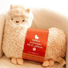Alpaca almohada, cojín o muñeca (beige) - Aunt Merry Mokomoko Llama Alpaca Hug Pillow Cushion Doll (beige) Alpacas, Hug Pillow, Llama Pillow, Llama Plush, Cute Alpaca, Alpaca Toy, Plush Animals, Gifts For Girls, Merry