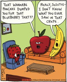 Official website of The Argyle Sweater featuring Scott Hilburn's daily Argyle Sweater comic panel and more, presenting a hilarious look at the world you think you know. Funny Puns, Funny Cartoons, Funny Comics, Funny Stuff, Funny Things, Cartoon Humor, Random Stuff, Food Jokes, Food Humor