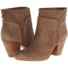 Nine West HollyDay Women's Pull-on Boots, Taupe ($70) ❤ liked on Polyvore featuring shoes, boots, ankle booties, ankle boots, taupe, suede boots, taupe suede booties, faux suede boots, taupe booties and platform booties