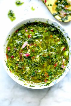 How to Make THE BEST Chimichurri Sauce   foodiecrush .com Steak Recipes, Sauce Recipes, Cooking Recipes, Medeteranian Recipes, Barbecue Recipes, Barbecue Sauce, Grilling Recipes, Chutney, Sauce Pesto