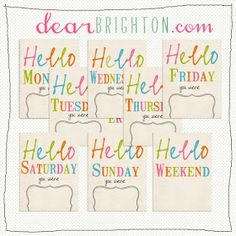 dear brighton     project life printables - hello weekday and weekend cards    Project Life 72c76b6cd
