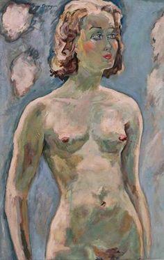 Kees Van Dongen - Nu debout, probablement Madeloiselle Edmunde Guy, n.d.