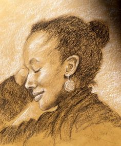 Irene Schwarz, Artist . Smile Irene, Drawing Faces, Artist, Movie Posters, Portraits, Brown Paper, Charcoal, Pastel, Pencil