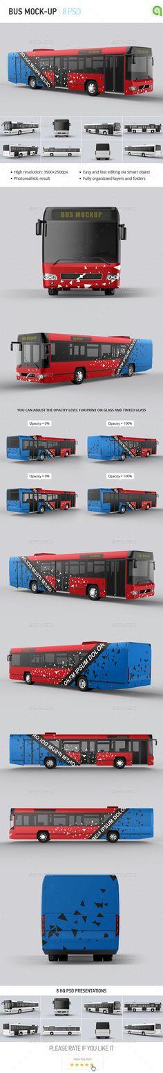 Bus Mock-up #design Download: http://graphicriver.net/item/bus-mockup/11756075?ref=ksioks