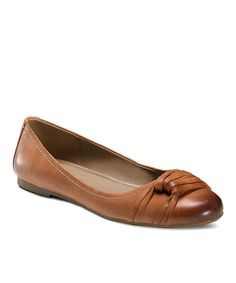 Take a look at this Cognac Kelly Flat by ECCO on #zulily today!