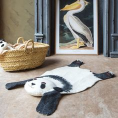 Soft, warm and adorable, our felt Perry panda rug adds a quirky floor covering in any child's bedroom. Kids Bedroom, Panda, Felt, Nursery, Kids Rugs, Flooring, Handmade, Crafts, Graham