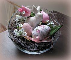 Ostern in der Glasschale von Florentine auf DaWanda.com