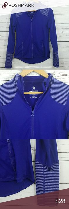 90Degree By Reflex Gym Jacket Like new conditions with no signs of wear, worn maybe once during the winter. Its very soft & comfortable, polyester/nylon/Spamdex Blend. Its a deep purple, somehow the pics look a bit blue but its purple. Size M. 90 Degree By Reflex Jackets & Coats