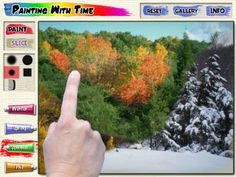 Pixels & Pencils - Painting With Time - Pass through time with a swipe of your finger.