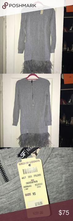 Haute hippie sweater dress with feathers NWT Bergdorf Goodman exclusive sweater dress with feathers Haute Hippie Dresses Mini