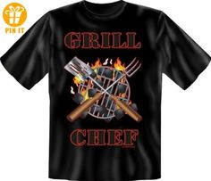 Fun Spruch T-Shirt 100% Baumwolle GRILLCHEF XXL - T-Shirts mit Spruch | Lustige und coole T-Shirts | Funny T-Shirts (*Partner-Link)