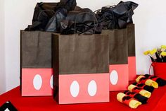 Cool Things to Make With Leftover Wrapping Paper - Mickey Gift Bags- Easy Crafts, Fun DIY Projects, Gifts and DIY Home Decor Ideas - Don't Trash The Christmas Wrapping Paper and Learn How To Make These Awesome Ideas Instead - Creative Craft Ideas for Teens, Tweens, Teenagers, Boys and Girls http://diyprojectsforteens.com/diy-projects-wrapping-paper