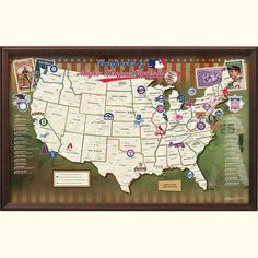Baseball Park Map-- would be fun to see games in several baseball parks!