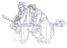 Harry Flirting with Ginny during Quidditch by *burdge-bug on deviantART (this is how I pictured Harry and Ginny's relationship going down...she needed to be much more sporty in the movies)