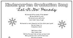 grad frozen song.pdf Kindergarten Graduation Songs, Frozen Songs, Learning To Write, End Of Year, Preschool Ideas, Celebration, Teacher, Pdf, Let It Be