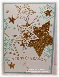 Many Merry Stars Stamps, Stars Framelits, Itty Bitty punch Pack 2014. Stampin' Up!