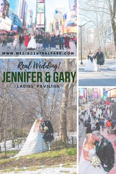 Jennifer and Gary's Wedding in the Ladies' Pavilion, Central Park, New York. In the snow, in March! Scottish couple living in Australia got their family together for their wedding! Top Wedding Trends, Wedding Tips, Wedding Styles, Wedding Photos, Unique Weddings, Real Weddings, Destination Weddings, Wedding Locations, Wedding Vendors
