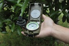 Army Green Color Multifunctional Luminous compass with ruler level