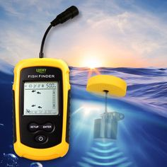 Lucky Brand Fish Finder Portable Fish Finder Depth Sonar Sounder Alarm Waterproof Fishing 100M 328Feet Sonar 1108
