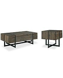 Chambers Occasional Table Furniture 2 Pc Set Storage Coffee