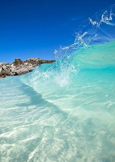 clear ocean water wave