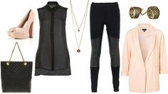 daily look - black and peachy