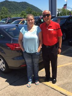 Ashley Pyles with her Sales Associate, Tom Kruger. Thanks Again, Ashley 😉👍
