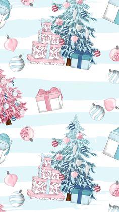 Christmas Phone Wallpaper, New Year Wallpaper, Holiday Wallpaper, Winter Wallpaper, Cute Wallpaper Backgrounds, Aesthetic Iphone Wallpaper, Cute Wallpapers, Illustration Noel, Illustrations