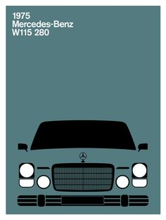 Print Collection - Mercedes-Benz W115 280C, 1975