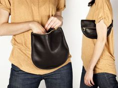 f02519771cc This large leather pouch by Baggu is perfect for holding your phone