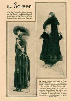 The Silent Life in 1915: Fashion essentials include velvet, fur, borzoi… – Movies Silently